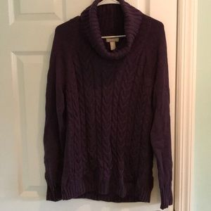Banana Republic cable knit cowl neck sweater